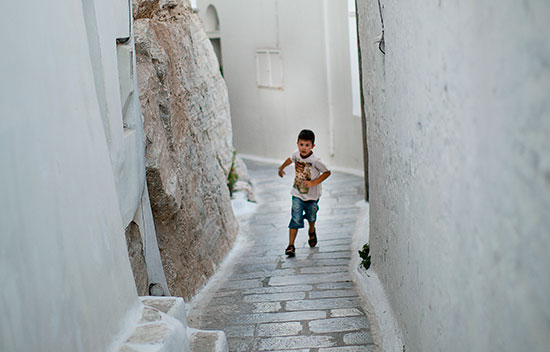kid, Tinos Greece