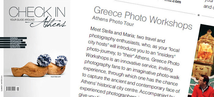 Greece Photo Workshops on Check in Athens magazine